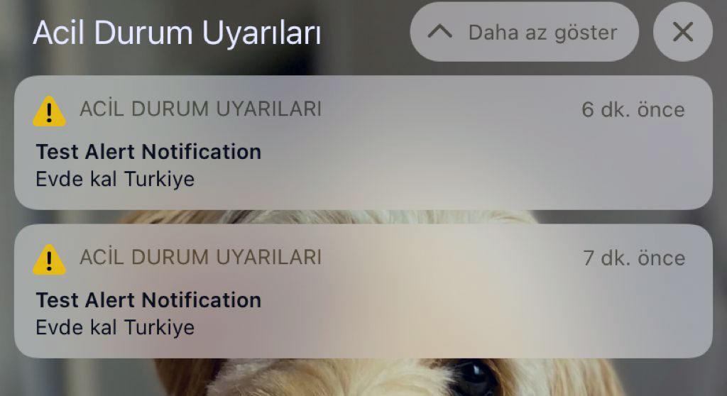 Türkiyedeki iPhone kullanıcıları acil durum uyarısı ile korktu