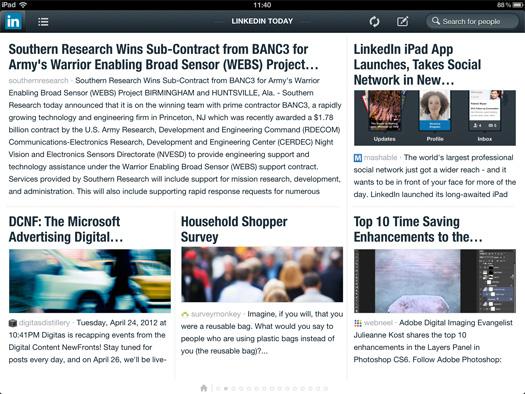 LinkedIn iPad