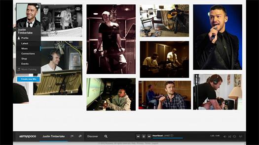 Sosyal ağ platformlarından myspace yeni tasarımının