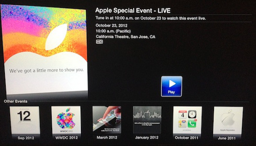 iPad mini event stream