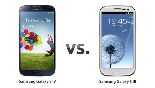 Samsung Galaxy S IV ve Samsung Galaxy S III