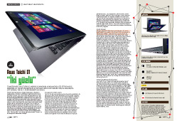 WINDOWS 8'Lİ TABLET BİLGİSAYARLAR