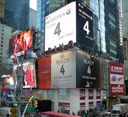 LG Optimus G - Times Square