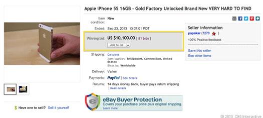 Altın rengi iPhone 5s