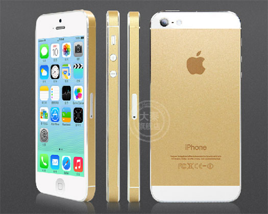 Altın iPhone 5s sticker'ı