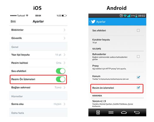Twitter iOS ve Android uygulaması