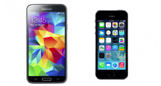 Galaxy S5 vs iPhone5s