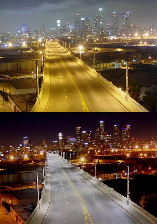 led ışıklı şehirler