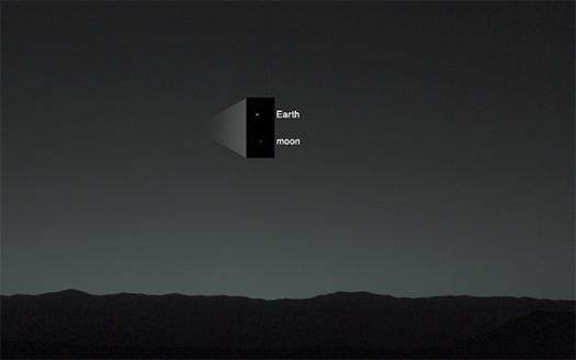 mars'tan dünya ve ay