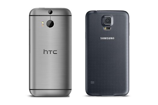 htc one (m8) galaxy s5
