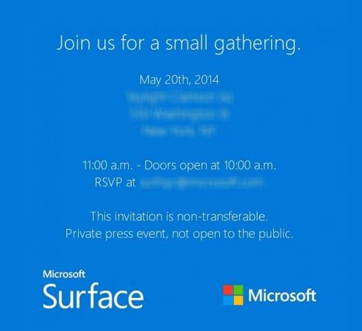Surface Mini davetiye