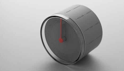 cylindrical world clock