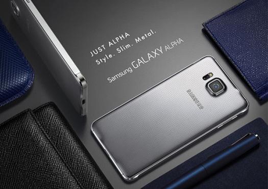 Metal Cerceveli Samsung Galaxy Alpha Resmi Olarak