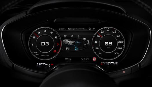 Audi Tt Nin Sanal Kokpiti Klasik G 246 Sterge Panelini Elektronik Ekranla Birleştiriyor Log