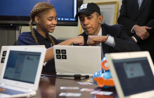 barrack obama, hour of code