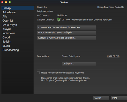 Steam Beta