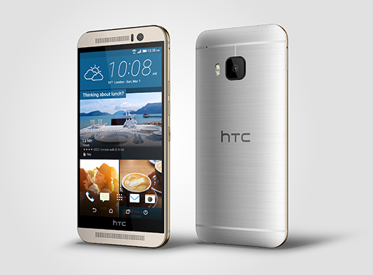 HTC One M9_Silver_Left