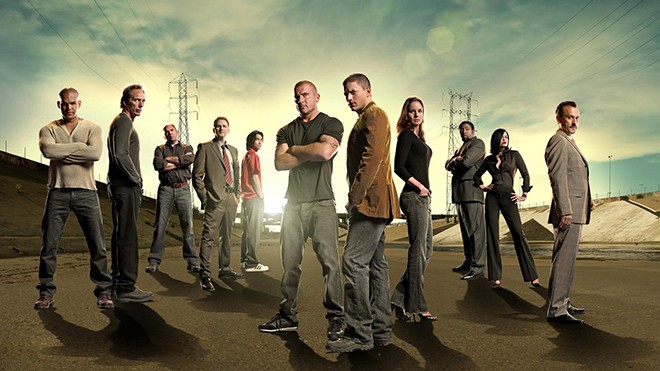 PRISON BREAK: The fourth season of PRISON BREAK premieres Monday, Sept. 1 (8:00-10:00 PM ET/PT) on FOX. Pictured L-R: Amaury Nolasco, William Fichtner, Wade Williams, Michael Rapaport, James Hiro Yuki Liao,, Dominic Purcell, Wentworth Miller, Sarah Wayne Callies, Cress Williams, Jodi Lyn O'Keefe and Robert Knepper. ©2008 Fox Broadcasting Co. Cr: Florian Schneider/FOX