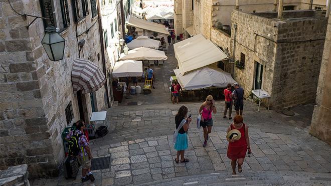 Dubrovnik'teki barok merdivenler