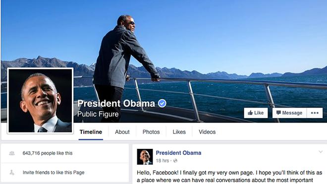 obama, facebook