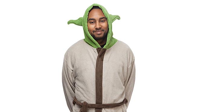 Yoda bornoz. Asla geç değil bilgelik için.