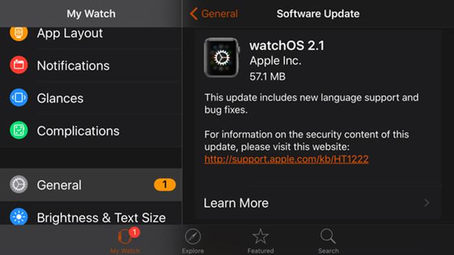 watchOS 2.1