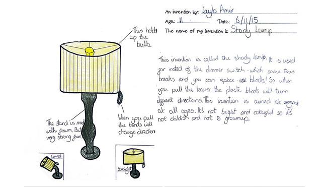 Işığın şiddetini ayarlamak için jaluzili lamba.