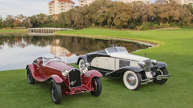 1932 Alfa Romeo 8C 2300 Zagato Spider ve 1930 Cord L29 Brooks Stevens Speedster