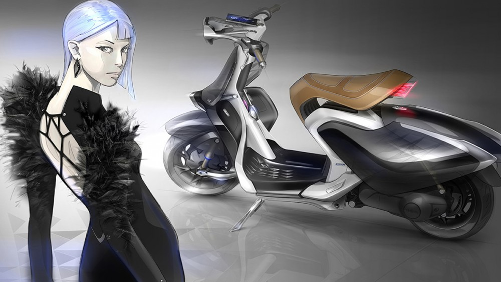 Yamaha Kanatli Scooter