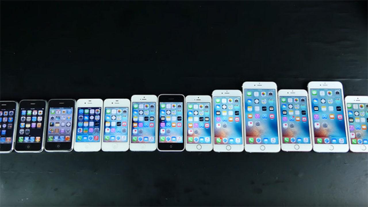 Gelmiş geçmiş tüm iPhone'lar hız testinde [Video] - LOG
