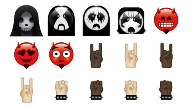 heavy metal emoji