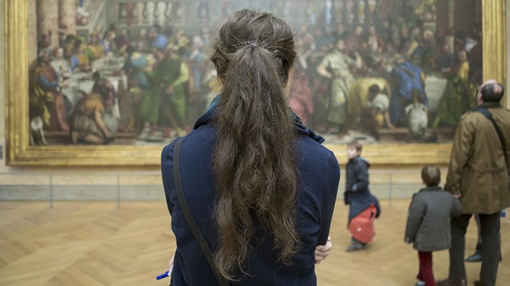 Mona Lisa, Louvre Müzesi, Paris, Fransa