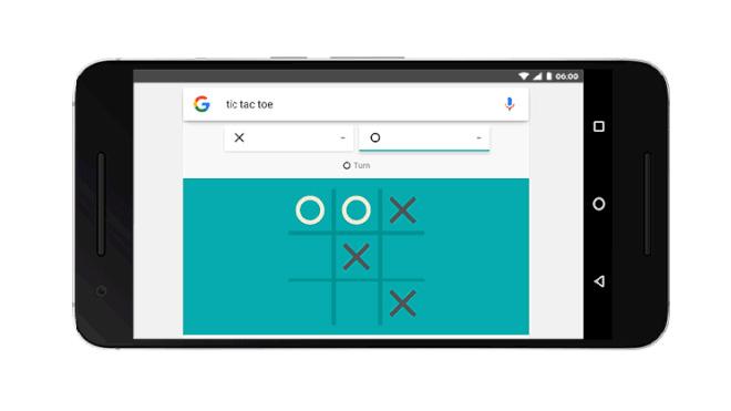 Google üzerinden Solitaire ve Tic-Tac-Toe oynamak mümkün