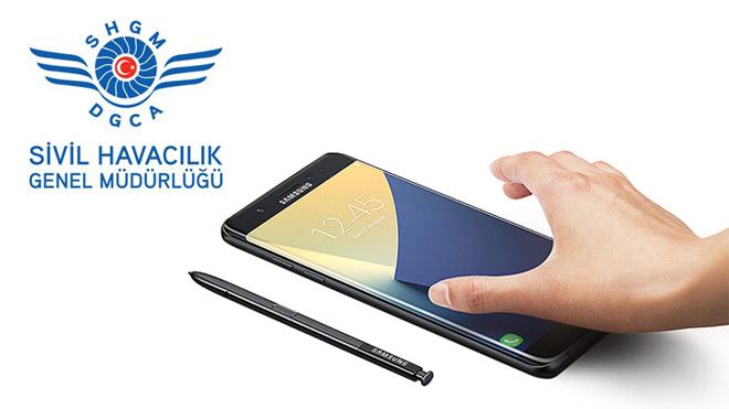 Sivil Havacılık Genel Müdürlüğü'nden Samsung Galaxy Note7 uyarısı