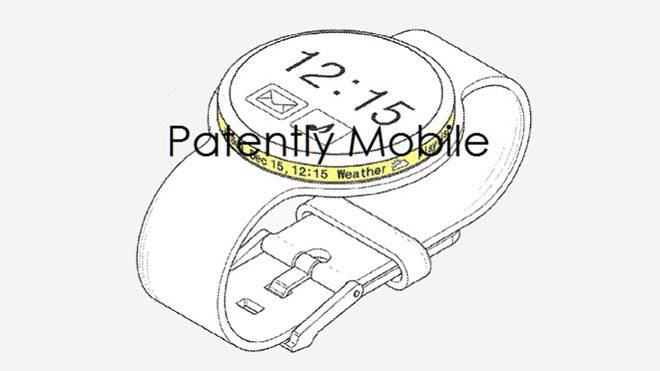 Samsung'dan akıllı saatin çerçevesini ekrana dönüştüren patent
