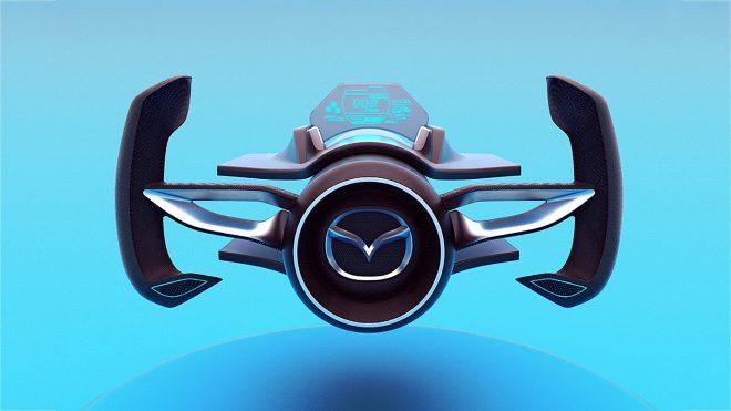 Cizgileriyle Akillarimiza Batmobilei Getiren Mazda Shinshi Konseptinde Tek Parca Olarak Tercih Edilen Hatlara Yer Verildigini Goruyoruz