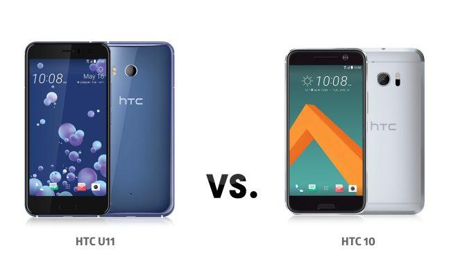 HTC U11 ve HTC 10 karşılaştırması
