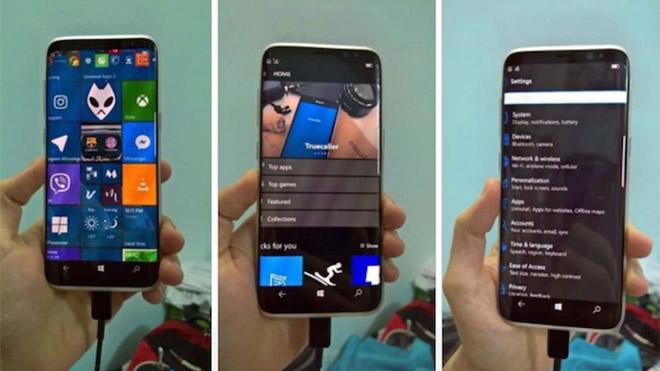 Samsung Galaxy S8'in Windows 10 Mobile'lı modeli göründü