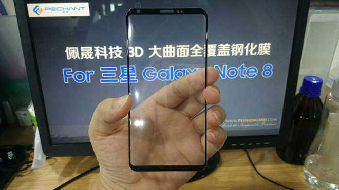 Samsung Galaxy Note 8'in ön paneli sızdı
