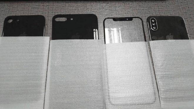 iPhone 7s, iPhone 7s Plus ve iPhone 8'in ön ve arka panelleri ortaya çıktı