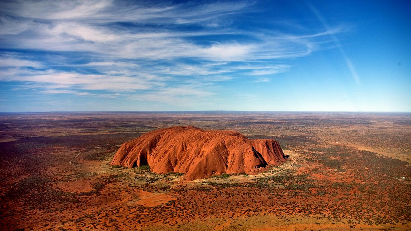 природа поле Улуру австралия скалы  № 586608  скачать