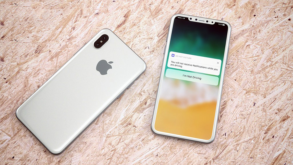 Beyaz Renkli Ve 231 Er 231 Evesiz Ekranlı Iphone 8 Konsepti