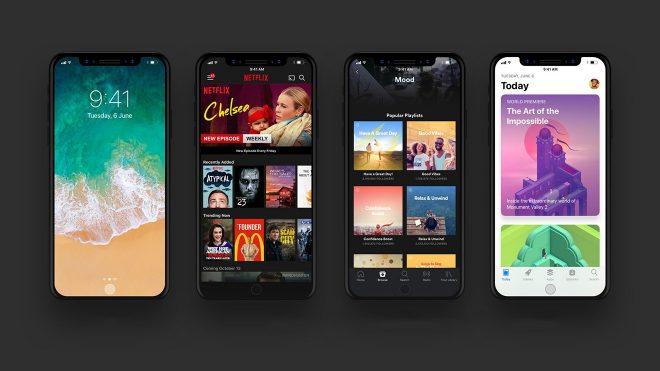 iPhone 8'de uygulamalar nasıl görünüyor?