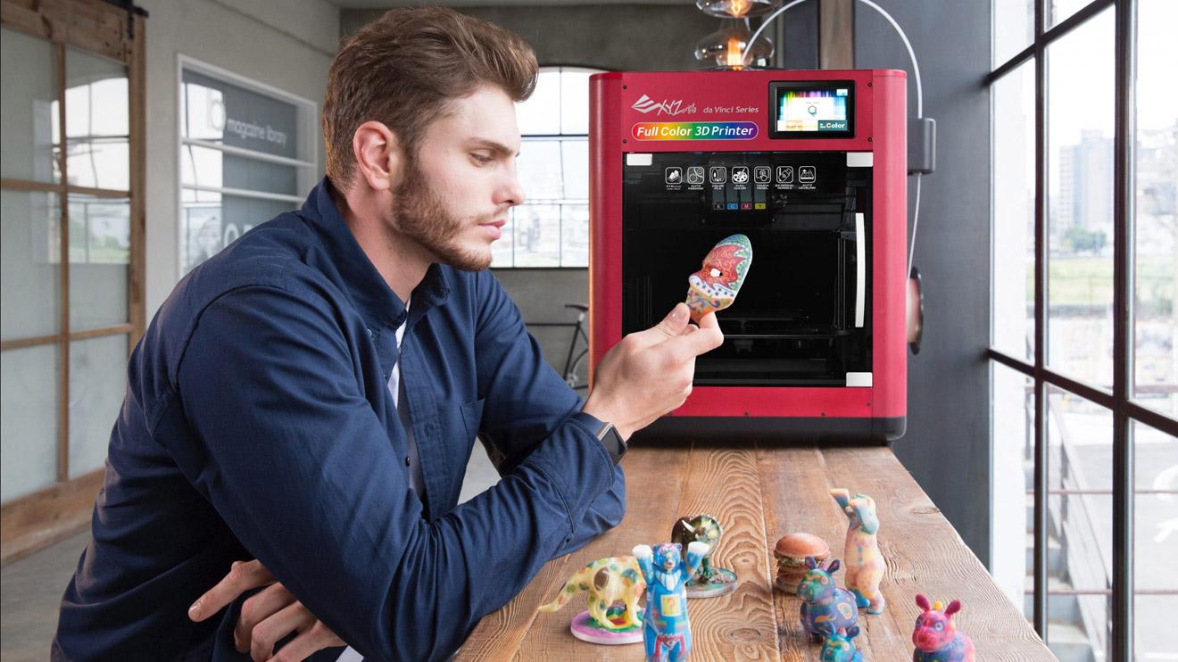 Dünyanın ilk tam renkli masaüstü 3D yazıcısı nihayet karşımızda: da Vinci  Full Color [Video] - LOG