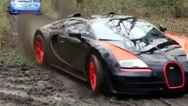 Bugatti, Lamborghini ve Ferrari'den oluşan egzotik canavar ekibinin çamur savaşına konuk olun [Video]