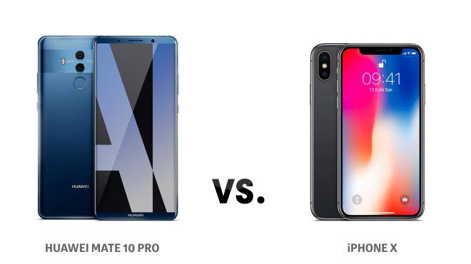 Huawei Mate 10 Pro ve iPhone X karşılaştırması