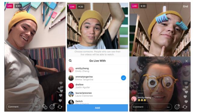 Instagram canlı yayın