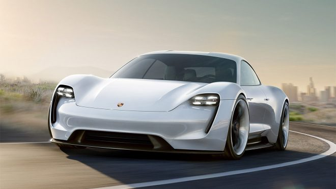 Porsche elektrikli otomobil Mission E Nürburgring