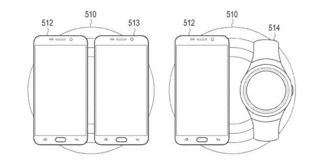 Samsung kablosuz şarj standı patent