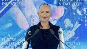 insansı robot sophia Hanson Robotics